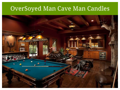 OverSoyed Original Man Cave Man Candles